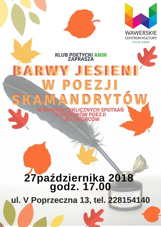 Klub Poetycki Anin Barwy Jesieni W Poezji Skamandrytów